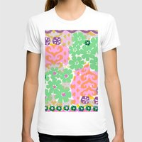 Les Fleurs Womens Fitted Tee White SMALL