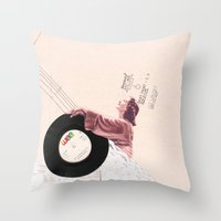 Lace & Vinyl Throw Pillow