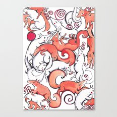 Fox Pattern Canvas Print