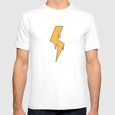 Greased Lightning SMALL White Mens Fitted Tee