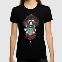 Mayan Head Womens Fitted Tee Black SMALL