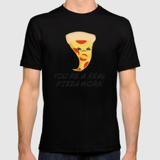 Sour food puns - pizza SMALL Mens Fitted Tee Black