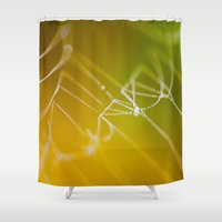 The Spiders Web - Fall Colors Shower Curtain