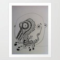 Seahorseman Art Print