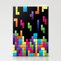 Tetris Troubles. Stationery Cards