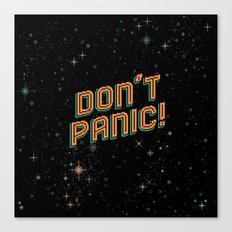 Don't Panic! Pixel Art Canvas Print