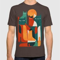 T-shirt featuring Cat Family by Budi Kwan