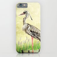 iPhone & iPod Case featuring Heron by GalaArt