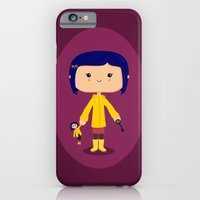 iPhone & iPod Case featuring Button-Eyed Girl by Sombras Blancas Art & Design