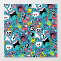 Doodled Pattern Canvas Print