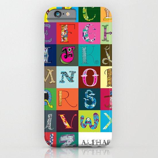 Hand Drawn Alphabet iPhone & iPod Case