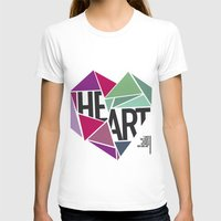 BROKEN HEART Womens Fitted Tee White SMALL