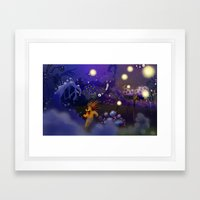 Moka in the dark Framed Art Print