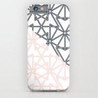 Black and Pink Crop Symmetry iPhone 6 Slim Case