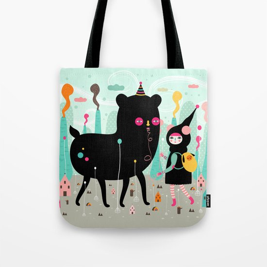 A lovely day at the tiny world Tote Bag