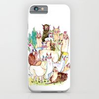 Wild family series - Llama Party iPhone 6 Slim Case