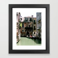 Water Filled Alleyway  Framed Art Print