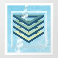 Four Triangles  Art Print