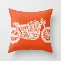 Four Wheels Transport Th… Throw Pillow