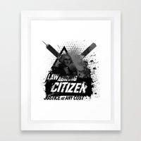 Citizen Framed Art Print