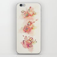 Roses & Orchids iPhone & iPod Skin