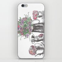 Teapots And Flowers Wate… iPhone & iPod Skin