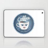 Cold coffee makes you beautiful... Laptop & iPad Skin