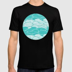 The Calm and Stormy Seas SMALL Mens Fitted Tee Black