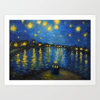 Starry Night Over Cardif… Art Print