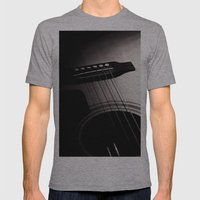 Guitar Mens Fitted Tee Athletic Grey SMALL