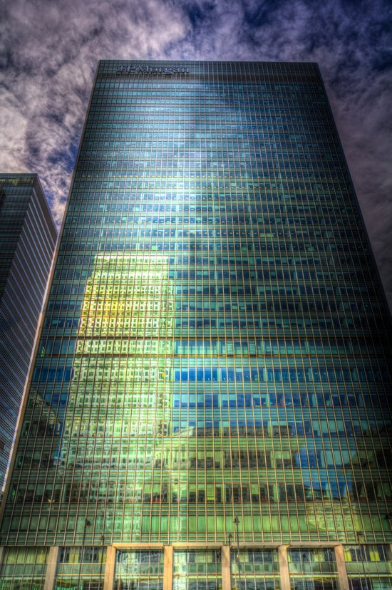 Reflections of Canary Wharf Art Print