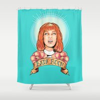 St. Leeloo Of The Big Ba… Shower Curtain