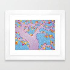 Autumn Spirals Framed Art Print