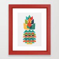 Colorful Whimsical Anana… Framed Art Print