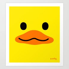 Sketchy Duck Art Print