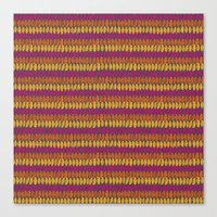 Colorful Wild Spirit Feathers Canvas Print