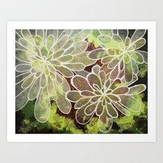 Paper Flowers Art Print