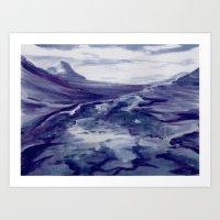 Icelandic Landscape (Blu… Art Print