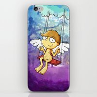 Angel boy on a swing iPhone & iPod Skin