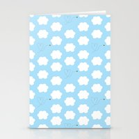 Cloud and Bee Pattern Stationery Cards