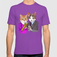 Kitty Cocktails Mens Fitted Tee Ultraviolet SMALL
