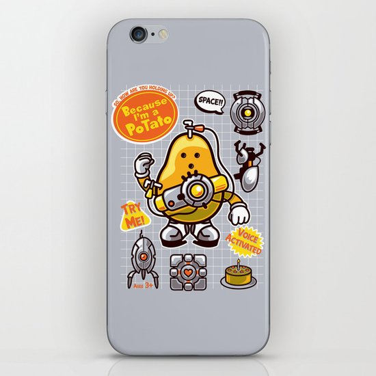 Mrs. Potato GLADos iPhone & iPod Skin