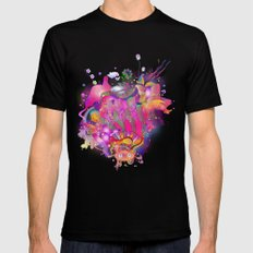 Purplescape Mens Fitted Tee Black SMALL