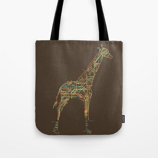 Electric Giraffe Tote Bag