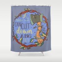Little Axe Big Tree Shower Curtain