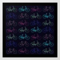 Vintage Bicycles Art Print