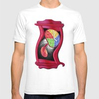 Dali Grandfather Clock Mens Fitted Tee White SMALL