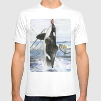 Marine Star Mens Fitted Tee White SMALL