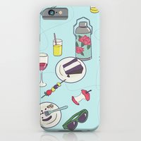messy picnic iPhone 6 Slim Case