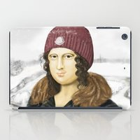 Mona Lisa in winter iPad Case